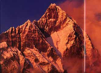 Lhotse South Face blazes at sunset - Nepal: Kathmandu Valley, Chitwan, Annapurna, Mustang, Everest (Lonely Planet Pictorial) book