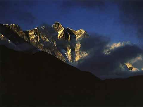 Lhotse South face at sunset - Nepal: The Mountains Of Heaven book