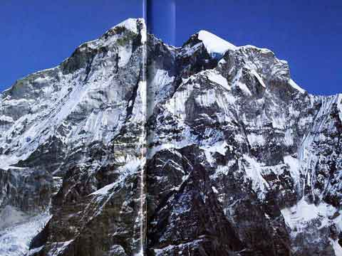 Gauri Shankar West Face, North Main Summit and South Summit - Over the Himalaya book