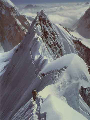 Rick Ridgeway Climbs K2 Northeast Ridge 1978 - Peaks Of Glory book