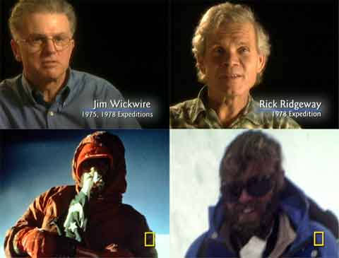 Jim Wickwire And Rick Ridgeway Current Images, Lou Reichardt And John Roskelley In 1978 - Quest for K2 (National Geographic) DVD