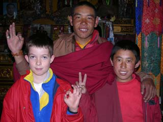 Peter Ryan was a real hit with the monks and nuns at Rongbuk Monastery near Everest North Base Camp