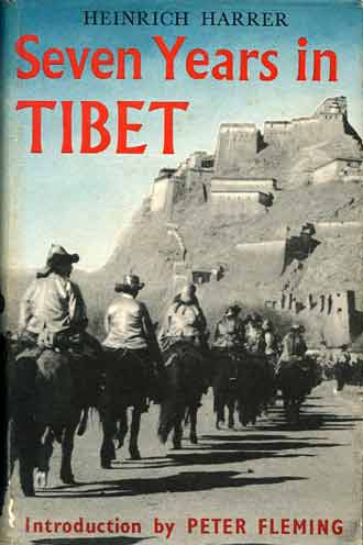 The flight from Lhasa nearing Gyantse - Seven Years In Tibet book book cover