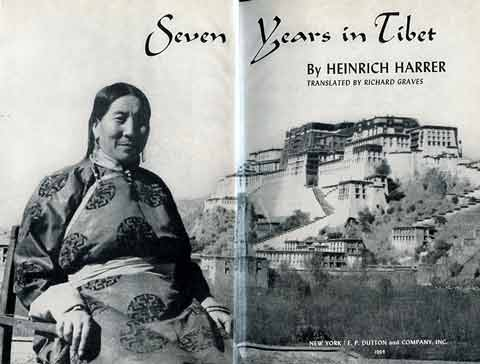 Lhasa Potala Palace and the mother of the Dalai Lama - Seven Years In Tibet book book