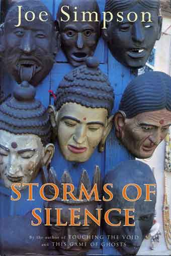 Spirit masks in Namche Bazaar - Storms Of Silence book cover