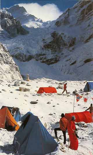 Base Camp view of Manaslu South Fase 1972 - Sturm Am Manaslu: Himalaya-Expeditions-Report (Reinhold Messner) book