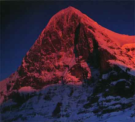 Eiger Nordwand North Face And Monch Sunset From Kleine Scheidegg - The Alps by Shiro Shirahata book
