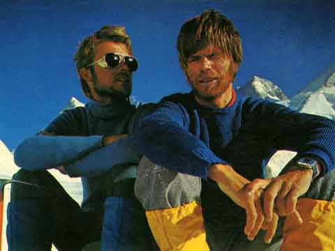 Peter Habeler And Reinhold Messner At Base Camp After First Ascent Of Gasherbrum I Northwest Face 1975 - The Challenge (Reinhold Messner) book
