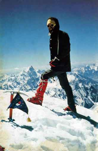 Reinhold Messner On Gasherbrum I Summit August 10, 1975 - The Challenge (Reinhold Messner) book