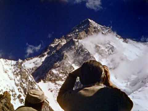 Ardito Desio Looking Towards K2 in 1954 - The Conquest of K2 DVD cover