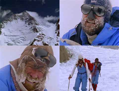 Gasherbrum I, Hans Kammerlander And Reinhold Messner On Gasherbrum I Summit June 28, 1984, Reinhold Messner And Hans Kammerlander Arrive Back At Base Camp - The Dark Glow of the Mountains DVD