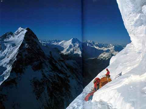 Broad Peak And Chogolisa From 7700m K2 Camp Below The Shoulder 1986 - Endless Knot: K2 Mountain Of Dreams And Destiny book