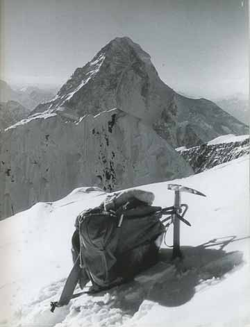 Broad Peak First Ascent - Kurt Diemberger's Knapsack And Ice Axe On Broad Peak Summit June 9, 1957 With K2 Behind - Endless Knot: K2 Mountain Of Dreams And Destiny book