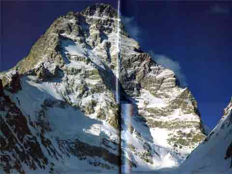 K2 Southwest Face From Savoia Glacier - The Karakoram: Mountains of Pakistan book