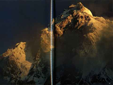 Nanga Parbat Rupal Face Sunrise - The Karakoram: Mountains of Pakistan book