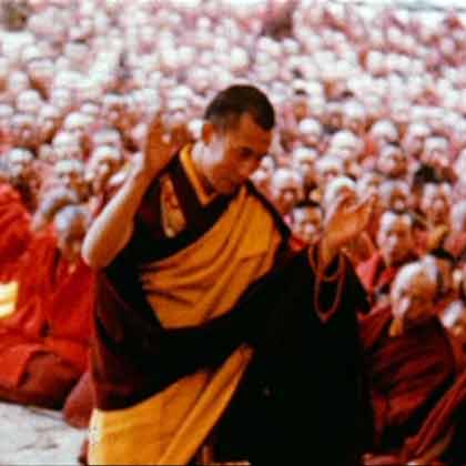 Dalai Lama debates for his doctor of Buddhism exams before thousands on monks - BBC The Lost World Of TIbet BBC DVD