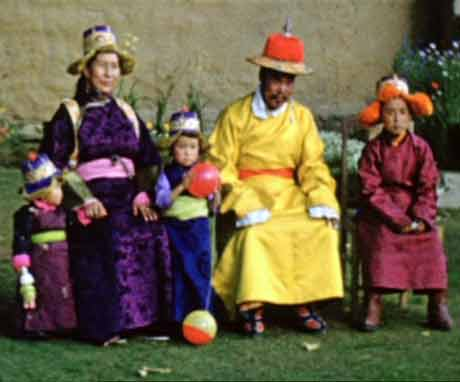 The family of the Dalai Lama in traditional dress - BBC The Lost World Of TIbet BBC DVD
