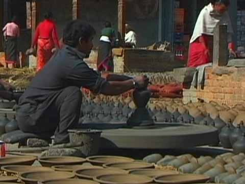 Bhaktapur Potters Square - The Three Royal Cities Of Nepal DVD