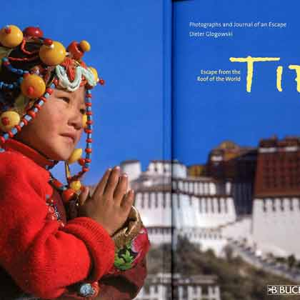 Young Pilgrim And Potala Palace In Lhasa - Tibet: Escape From The Roof Of The World by Dieter Glogowksi book