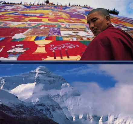 Large Tibet thangka and Everest North Face - Tibet: Places And History book