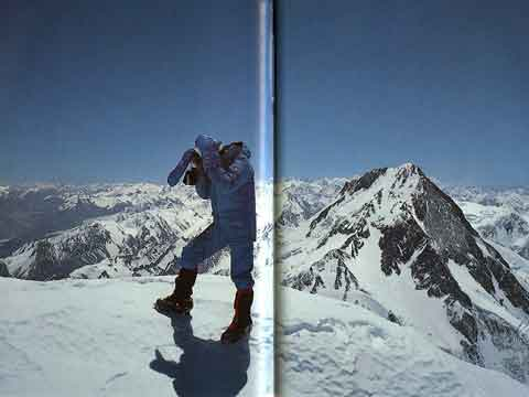 Hans Kammerlander On Gasherbrum II Summit June 25, 1984 With Gasherbrum I That He And Reinhold Messner Reached June 28, 1984 - To The Top Of The World (Reinhold Messner) book