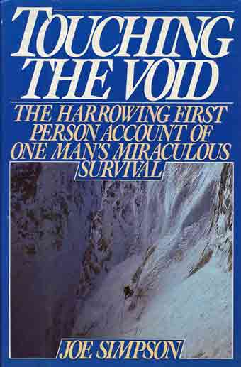 Joe Simpson Climbing Siula Grande 1985 - Touching The Void book cover