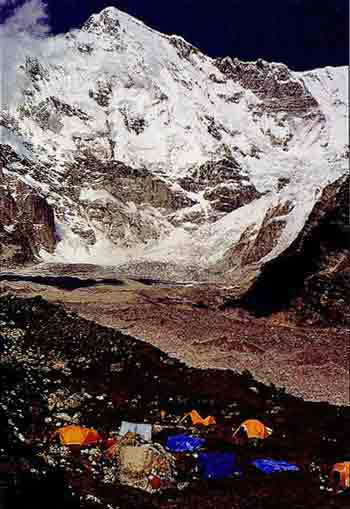 Cho Oyu South Face From Gokyo Valley - Trekking And Climbing in Nepal book