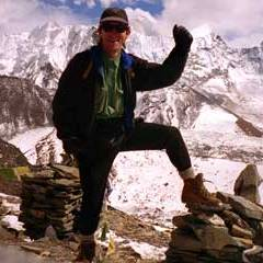 Jerome Ryan on Chukung (4750m) in October 1997