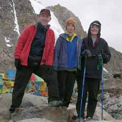 Jerome Ryan, Peter Ryan, and Charlotte Ryan on the Kailash Dolma La (5636m) in 2006