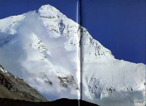Everest North Face from base camp - Trekking in Himalayas book