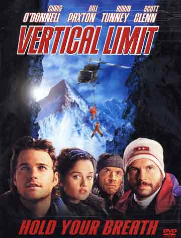 Chris ODonnell, Robin Tunney, Scott Glenn, Bill Paxton - Vertical Limit DVD cover