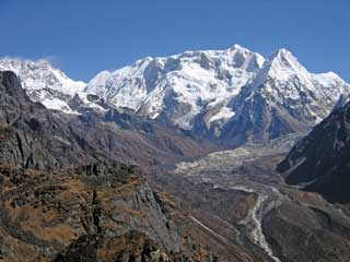 Kangchenjunga, Talung, Kabru and Ratong From Unnamed Pass  on the way from Kangchenjunga North To South