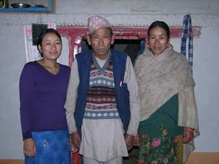 This family let me sleep in their house at Yamphudin when I was returning from Kangchenjunga