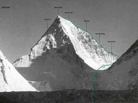 Gasherbrum IV South And East Faces And First Ascent Route - World Mountaineering book