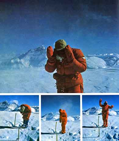 Dusan Becik On Cho Oyu Summit December 5, 1985 - Zabudnina Everest book